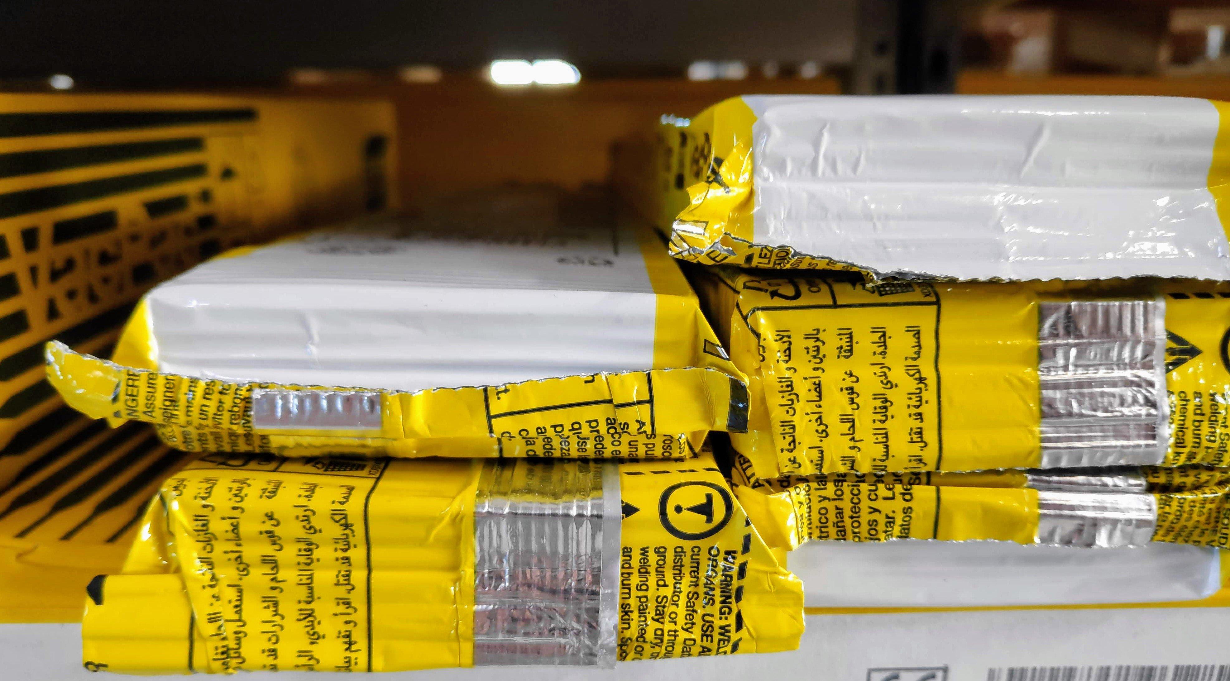 Vakuumpakkede elektroder på lagerhylde
